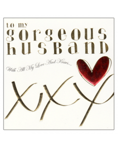'To My Gorgeous Husband' Card