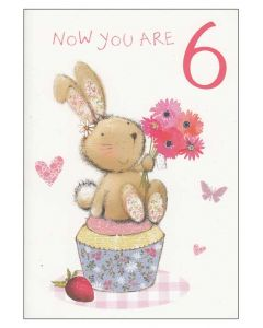 """Now you are 6"" Birthday Card"
