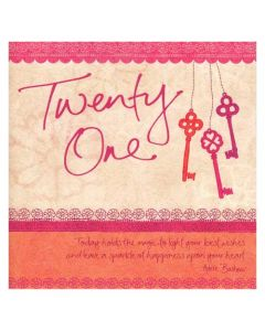 'Twenty One' Card