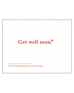 'Get Well Soon*' Card