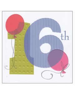 """Happy 16th"" Greeting Card"