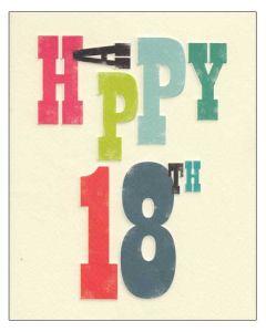 'Happy 18th' Card