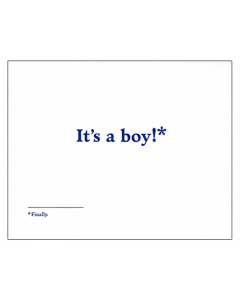 'It's a Boy!*' Card