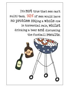 'It's Not True That Men Can't Multi-Task' Card