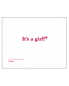 'It's a Girl!*' Card