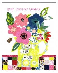 'Happy Birthday Grandma' Card