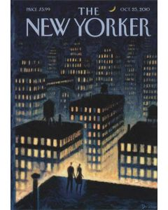 Twilight Rooftops The New Yorker Cover October 2010 Card