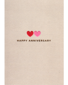 ANNIVERSARY Card - Two Hearts