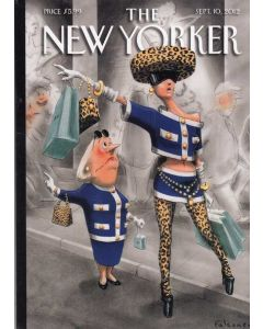 Hailing Taxi The New Yorker Cover September 2012 Card