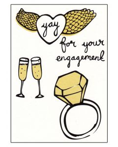 "ENGAGEMENT - ""Yay""  Greeting Card"