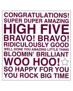 """Congratulations! super duper amazing' greeting card"
