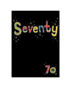 'Seventy -70' Card