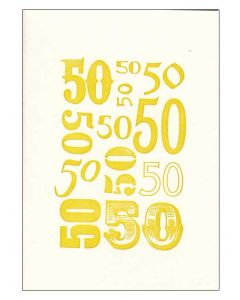 Celebrating '50' greeting card