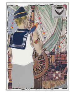 Sailor and Ship - Scratchie Greeting Card
