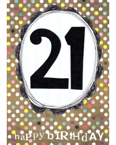 '21 Happy Birthday' Card