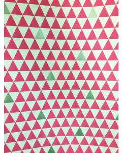 Pink/Silver Triangle Folded Wrapping Paper