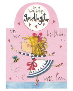 """To A Wonderful Granddaughter"" Greeting Card"