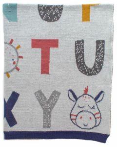 Alphabet Cotton Blanket