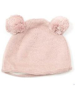 Double pom pom hat - Soft pink