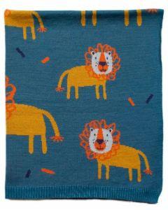 Leroy LION Cotton Blanket
