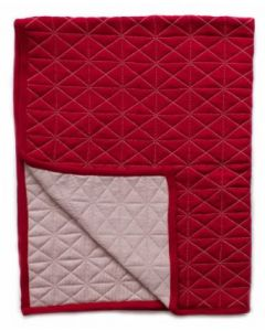 Quilted Blanket - reversible - Red/Blush