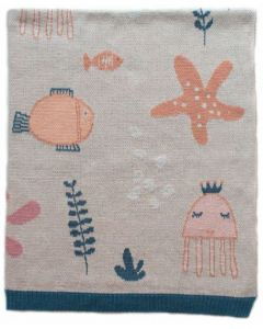 Under the Sea PINK Blanket