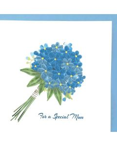 MUM - Flower Posy Quilling Card