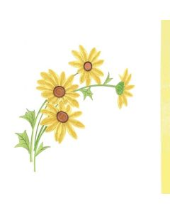 Yellow Flowers - Quilling Card