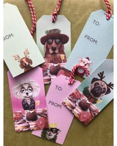 Christmas gift tag pack - Canine Christmas