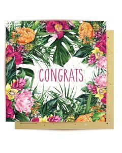 Congrats - Tropical Flowers