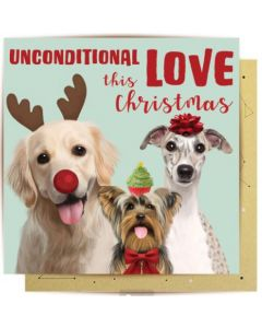 Christmas Card - Unconditional Love Dogs