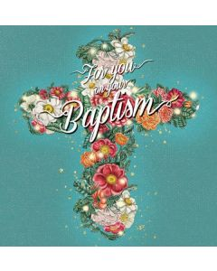 BAPTISM - Floral Cross