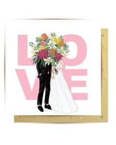 Wedding Card - Couple 'LOVE'