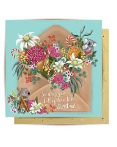 Christmas Card - Musical Critters Letter