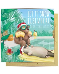 Christmas Card - Let it Snow Elsewhere