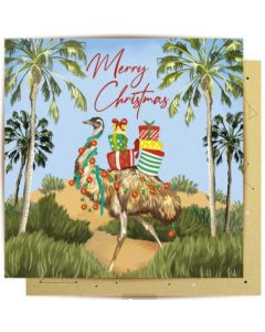 Christmas Card - Outback Christmas Emu