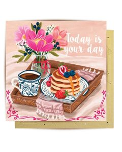 Greeting Card - Breakfast in Bed