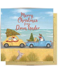 Christmas Card - Santa Down Under