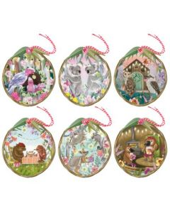Christmas Gift Tag Pack - At Home for Christmas (6 tags)