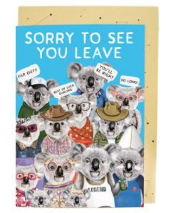 BIG Card - Sorry to See You Leave (Koalas)