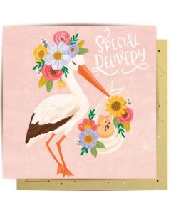 New BABY Card - Special Delivery Stork