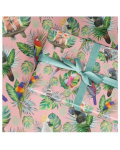 Tropical Birds -  Folded Wrapping paper