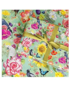 Secret Garden Birds -  Folded Wrapping paper