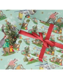 Christmas Folded Wrapping Paper - Festive Holidays