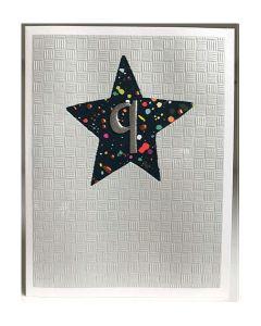 AGE 9 Card - Colourful Star