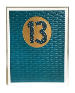 AGE 13 Card - Spotty 13 on Blue