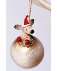 Kangaroo - Christmas hanging bauble