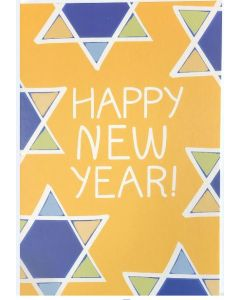 Jewish New Year Card - Stars on Yellow