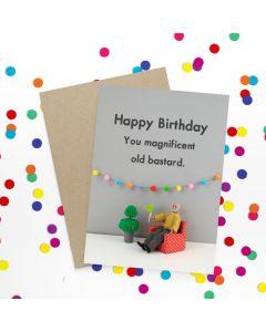 Birthday Card - Magnificent Old Bastard