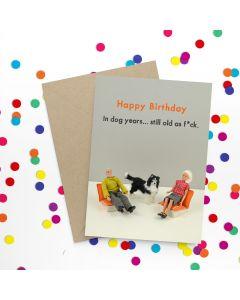 Birthday Card - Dog Years